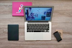 computer gadget type laptop computer with tablet and smartphone